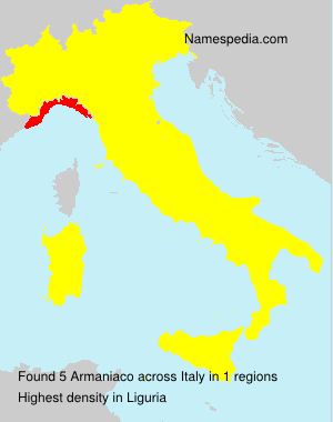 Surname Armaniaco in Italy