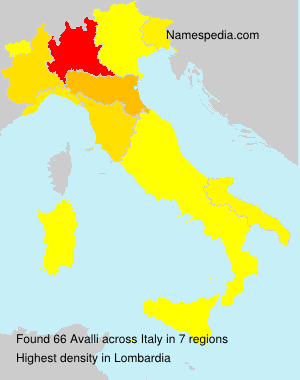 Surname Avalli in Italy