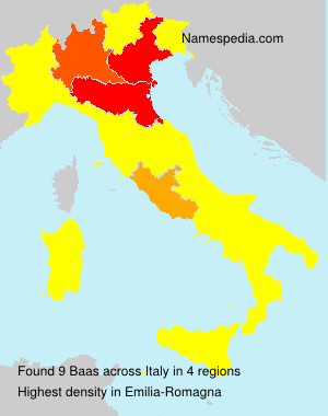 Surname Baas in Italy
