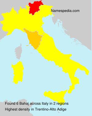 Familiennamen Bahaj - Italy