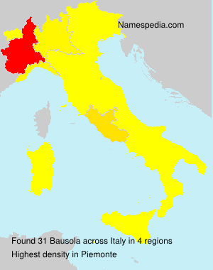 Surname Bausola in Italy