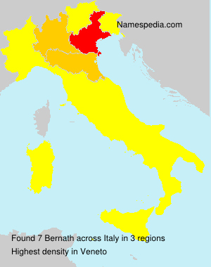 Surname Bernath in Italy