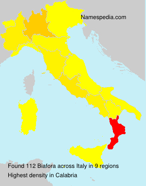 Surname Biafora in Italy
