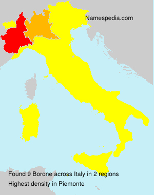 Surname Borone in Italy