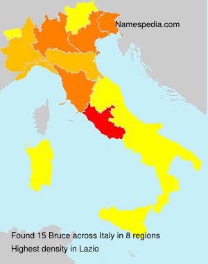 Surname Bruce in Italy