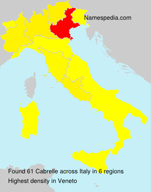 Surname Cabrelle in Italy