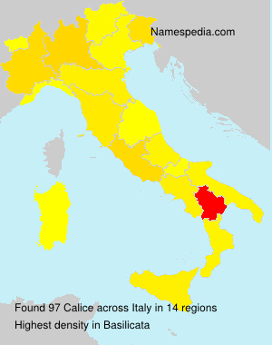 Surname Calice in Italy