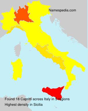 Surname Capritti in Italy