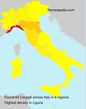 Surname Cargioli in Italy