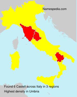 Familiennamen Castell - Italy