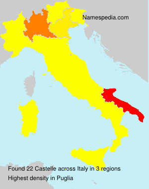Surname Castelle in Italy