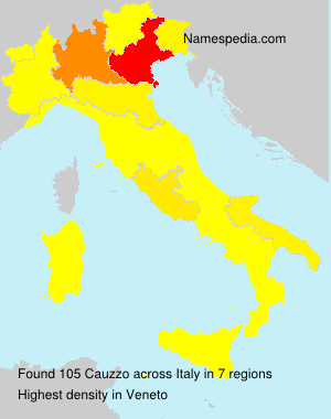 Surname Cauzzo in Italy
