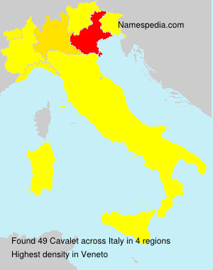 Surname Cavalet in Italy