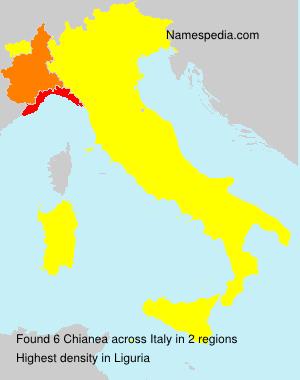 Familiennamen Chianea - Italy