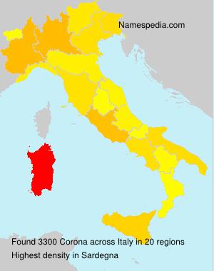Surname Corona in Italy