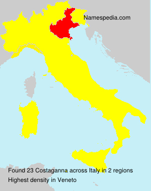 Surname Costaganna in Italy