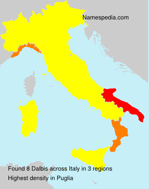 Surname Dalbis in Italy
