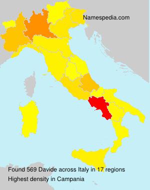 Surname Davide in Italy