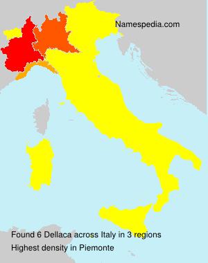 Surname Dellaca in Italy