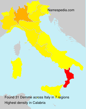 Surname Demme in Italy