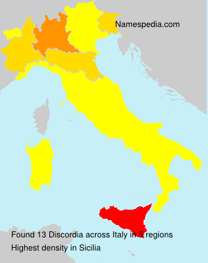 Surname Discordia in Italy