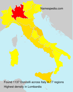 Surname Donzelli in Italy