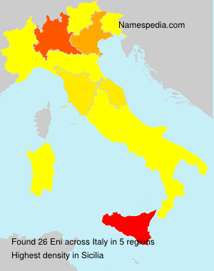 Surname Eni in Italy