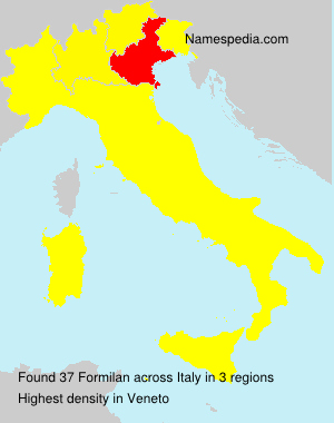 Surname Formilan in Italy