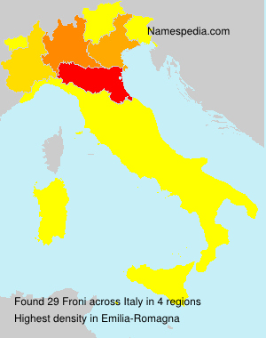 Surname Froni in Italy