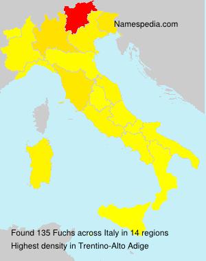 Familiennamen Fuchs - Italy