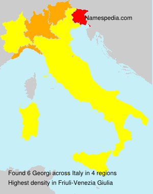 Surname Georgi in Italy