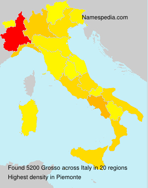 Surname Grosso in Italy
