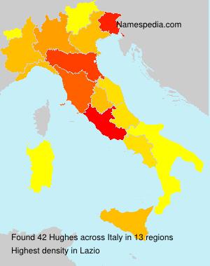 Familiennamen Hughes - Italy