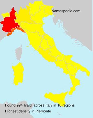Surname Ivaldi in Italy