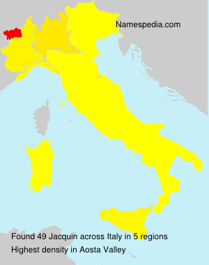 Surname Jacquin in Italy