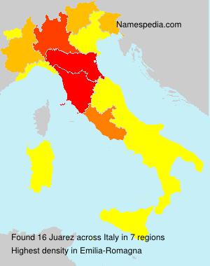 Familiennamen Juarez - Italy