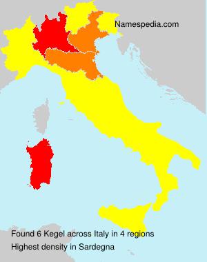 Familiennamen Kegel - Italy