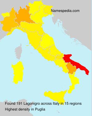 Surname Lagonigro in Italy