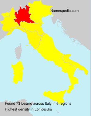 Familiennamen Lesmo - Italy