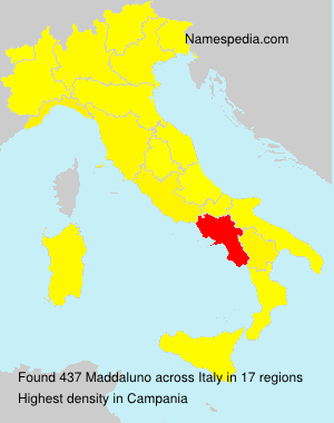 Surname Maddaluno in Italy