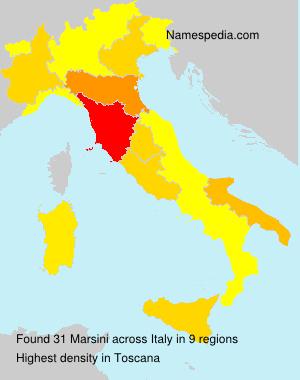 Surname Marsini in Italy