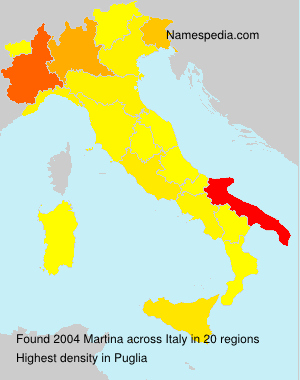 Surname Martina in Italy