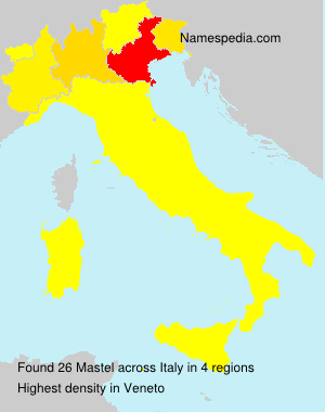 Surname Mastel in Italy