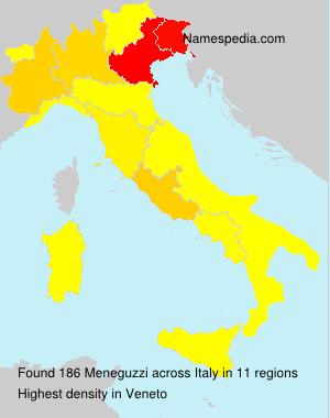 Familiennamen Meneguzzi - Italy
