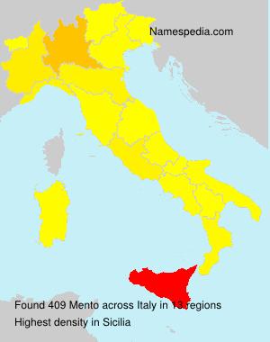 Familiennamen Mento - Italy
