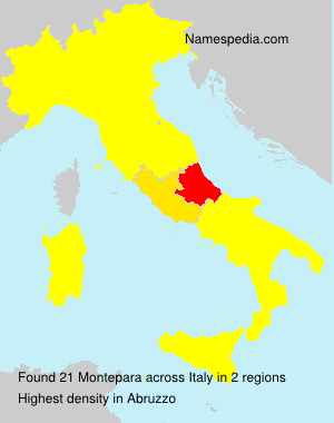 Surname Montepara in Italy