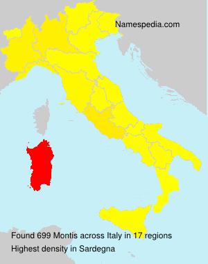 Familiennamen Montis - Italy