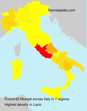 Surname Muliere in Italy