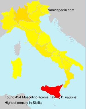 Familiennamen Muscolino - Italy