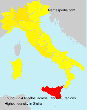 Surname Nicolosi in Italy